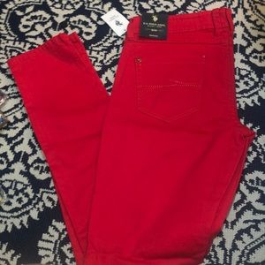 Red Polo Skinny jean